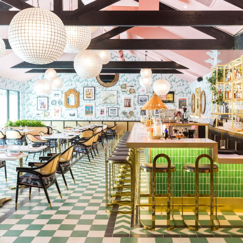 Take a Seat at the Pink Cabana's Colorful Desert Oasis