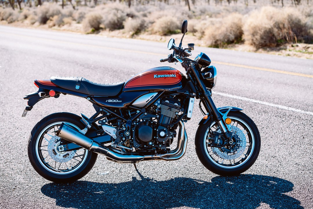 Kawasaki Z900RS in Joshua Tree