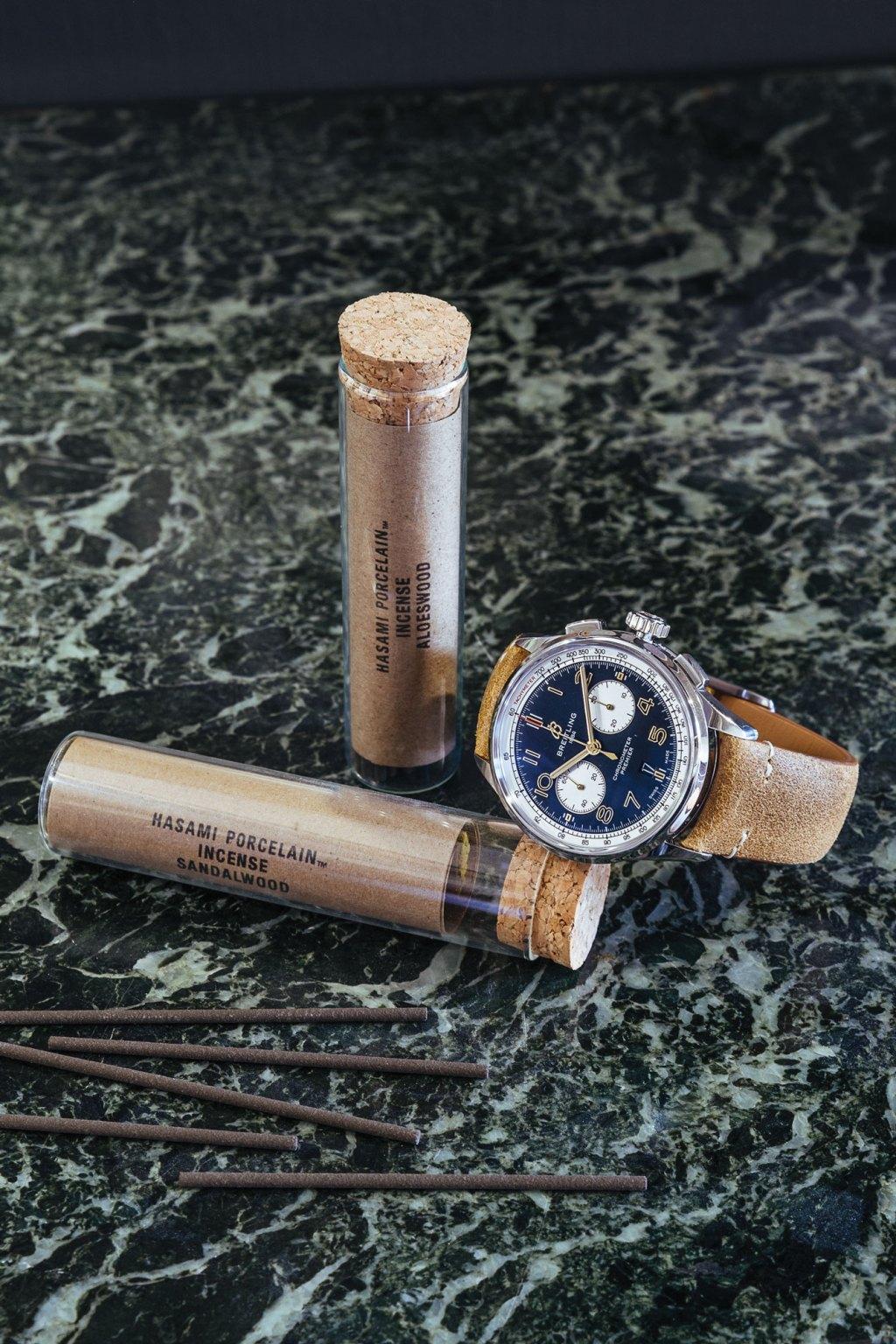 sixtysix mag Breitling Premier B01 Chronograph 42 Norton Edition hasami porcelan incense