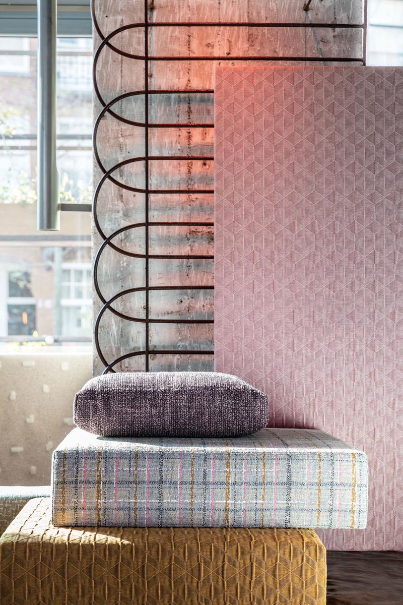 sixtysix mag hbf textiles stacked cushions