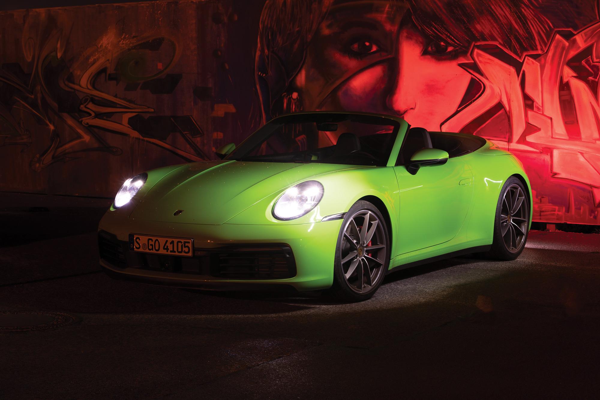 sixtysix mag porsche 911 lizard green parked