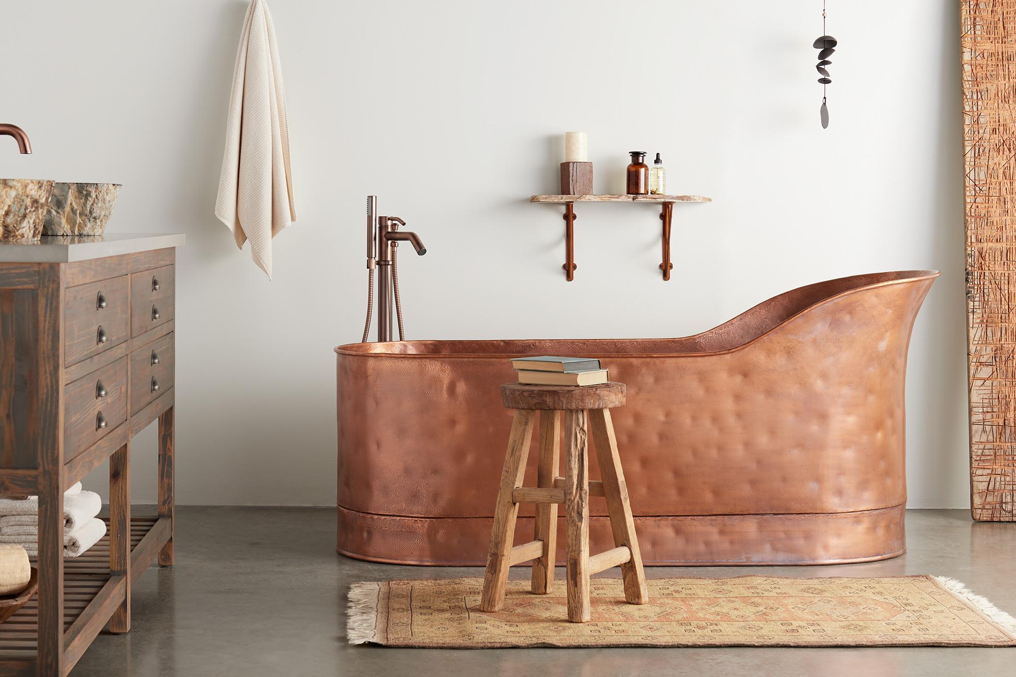 sixtysix signature hardware wabi sabi full room tub