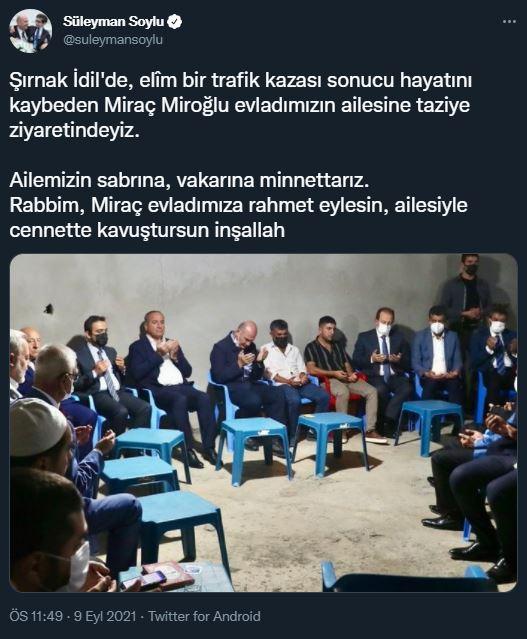 Süleyman soylu'dan dikkat çeken ziyaret