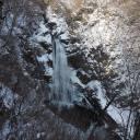 秋保大滝の滝つぼ風景