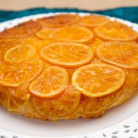 Sizzling Orange upside-down cake