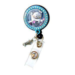Kitty Love Memory Charm Locket Retractable ID Badge Reel: Featured Image