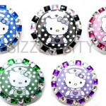 SIZZLE CITY Custom Retractable ID Badge Reels: Hello Kitty Poka-Dots Collection