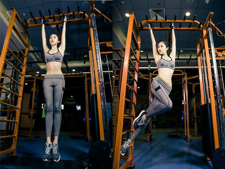 picture of model working out in gum with bralette