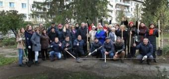 Зеленое пополнение в сквере Журналистов в Казани