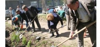 Акция по посадке деревьев прошла в Аллее журналистов в Казани