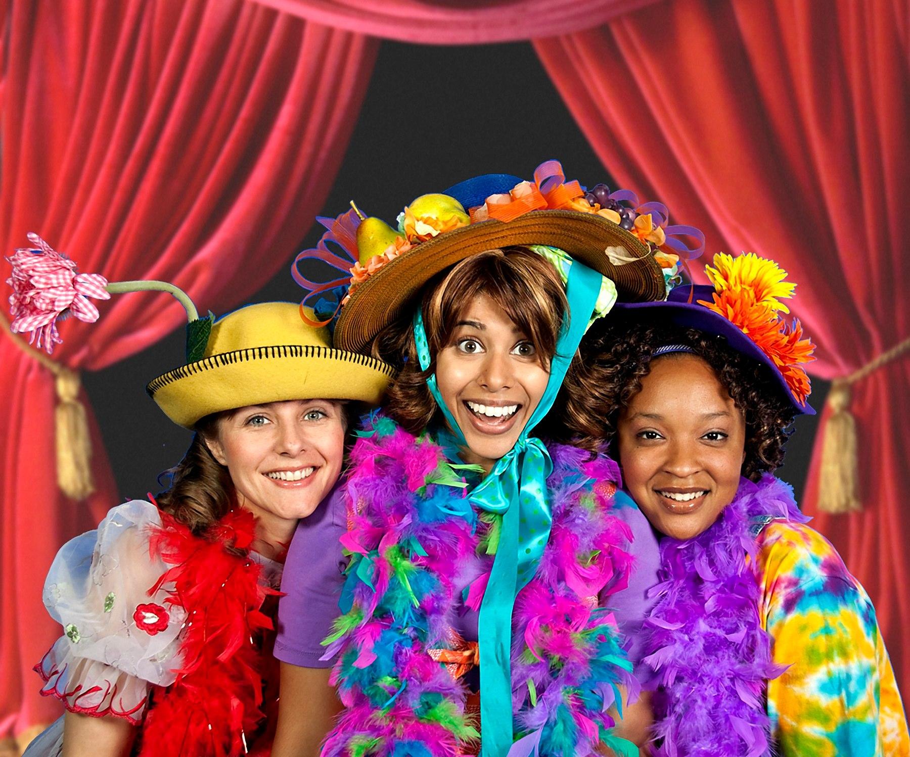 Lisa Schreiner (Lucille), Jessica Jain (Junie B. Jones), Ashley S. Duplechain (That Grace) Photo by Mark Oristano