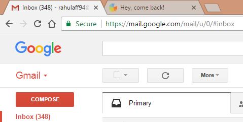 Marketing Genius gmail snapshot