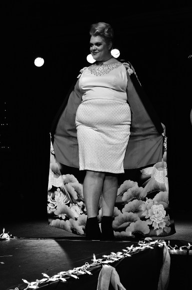 Models representing bodies traditionally overlooked in the fast fashion market displayed vintage and new designs on the runway. Designer: Brittani Bumb.