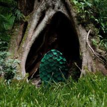 a giant green egg.
