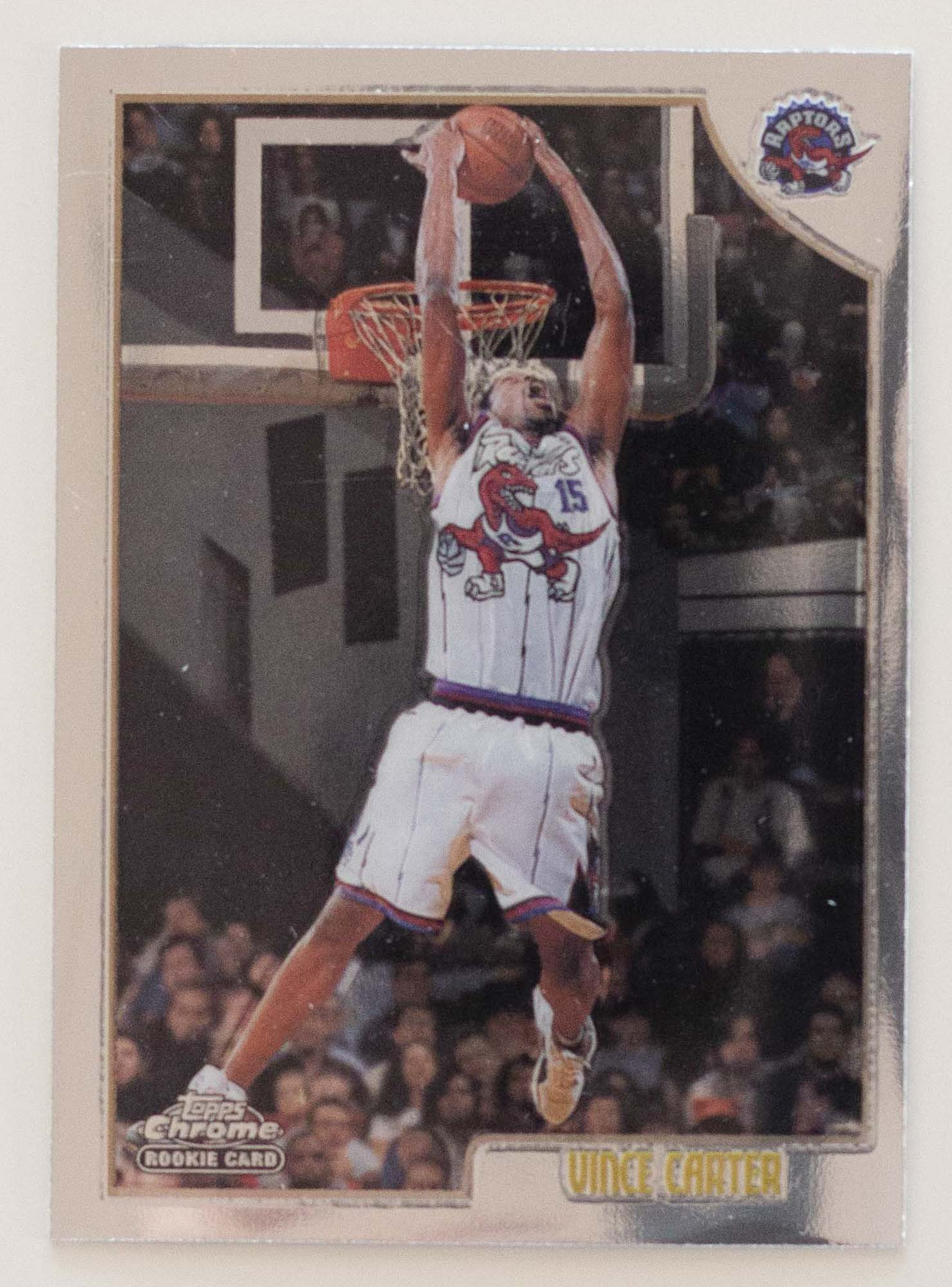 Vince Carter 1998 99 Topps Chrome Rookie Card Rc