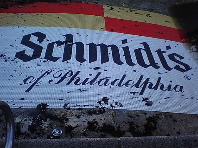 Schmidt's of Philadelphia Logo Tiled On the Pool
