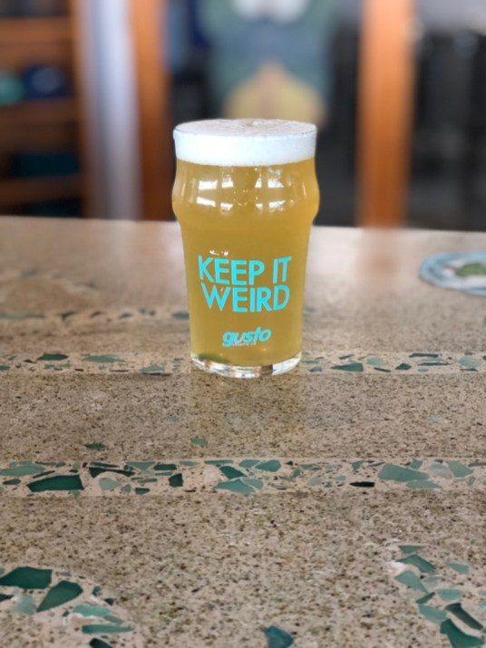 Gusto Brewing Company - Keep it Weird Pint Glass