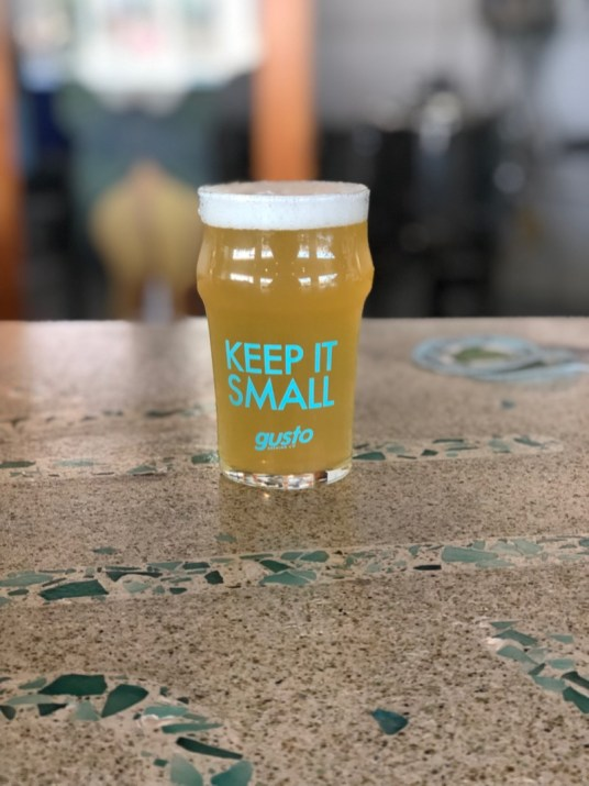 Gusto Brewing Company - Keep it Small Pint Glass