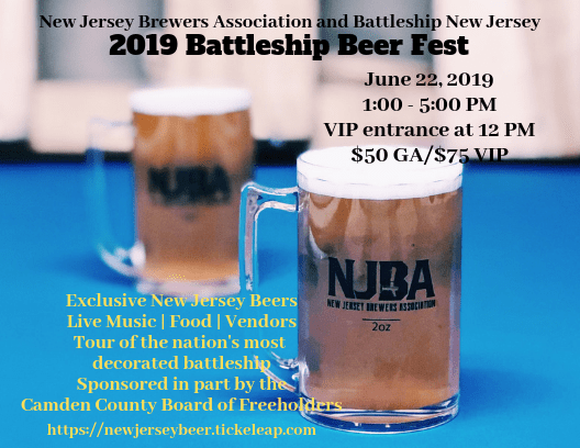 NJBA and Battleship New Jersey 2019 Battleship Beer Fest