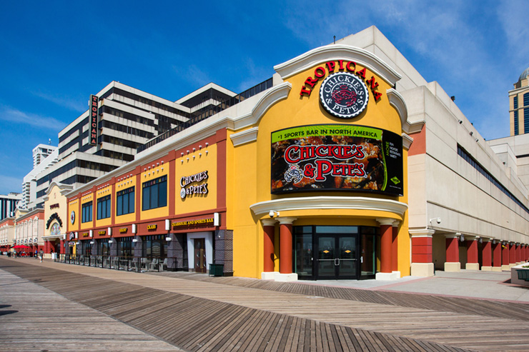 Exterior of Chickie's and Pete's Tropicana - One of the 5 Best Beer Bars in Atlantic City