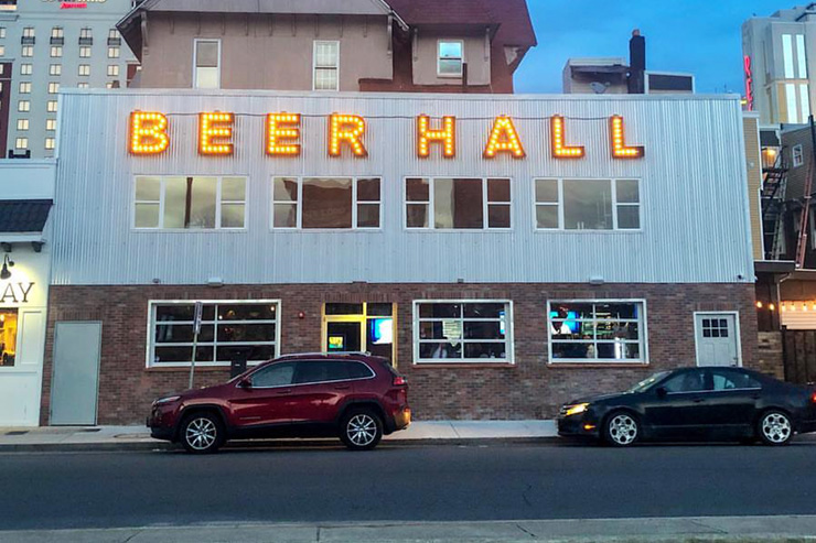 Exterior of the Tennessee Ave Beer Hall - One of the 5 Best Beer Bars in Atlantic City