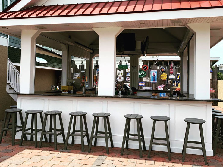 Outdoor Bar at Goodnight Irene's, Wildwood New Jersey