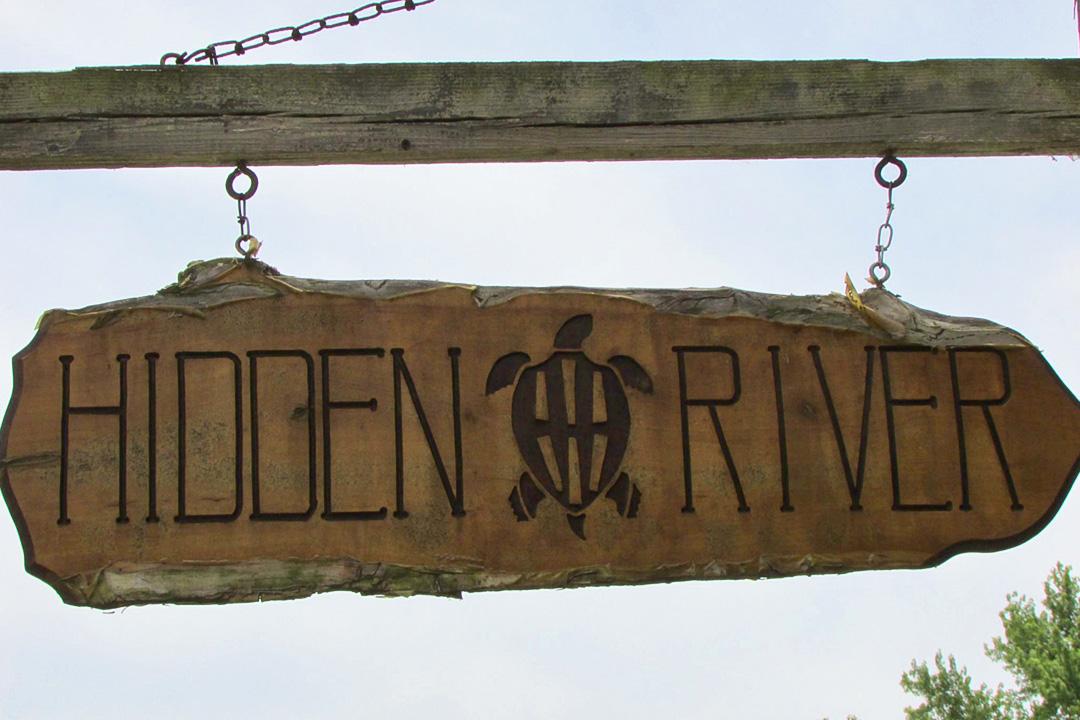 Hidden River Brewing Company Sign