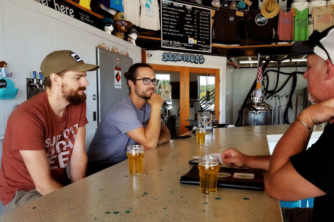 Zach Pashley and Head Brewer Dan Petela of Gusto Brewing Co.