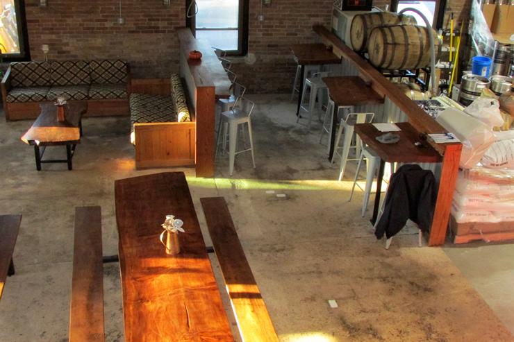 The Interior of Chimney Rustic Ales - Hammonton, NJ