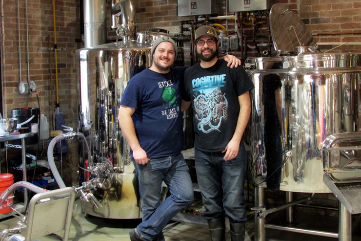 Chimney Rustic Ales Co-owners Dan Borrelli and Nic Martino