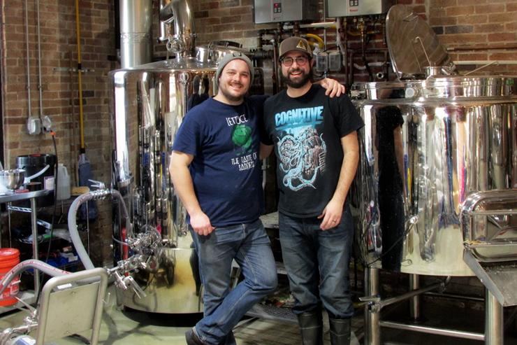 Chimney Rustic Ales Co-owners Dan Borrelli and Nic Martino