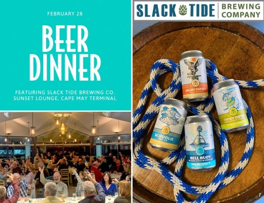 Cape May Ferry Beer Dinner featuring Slack Tide Brewing