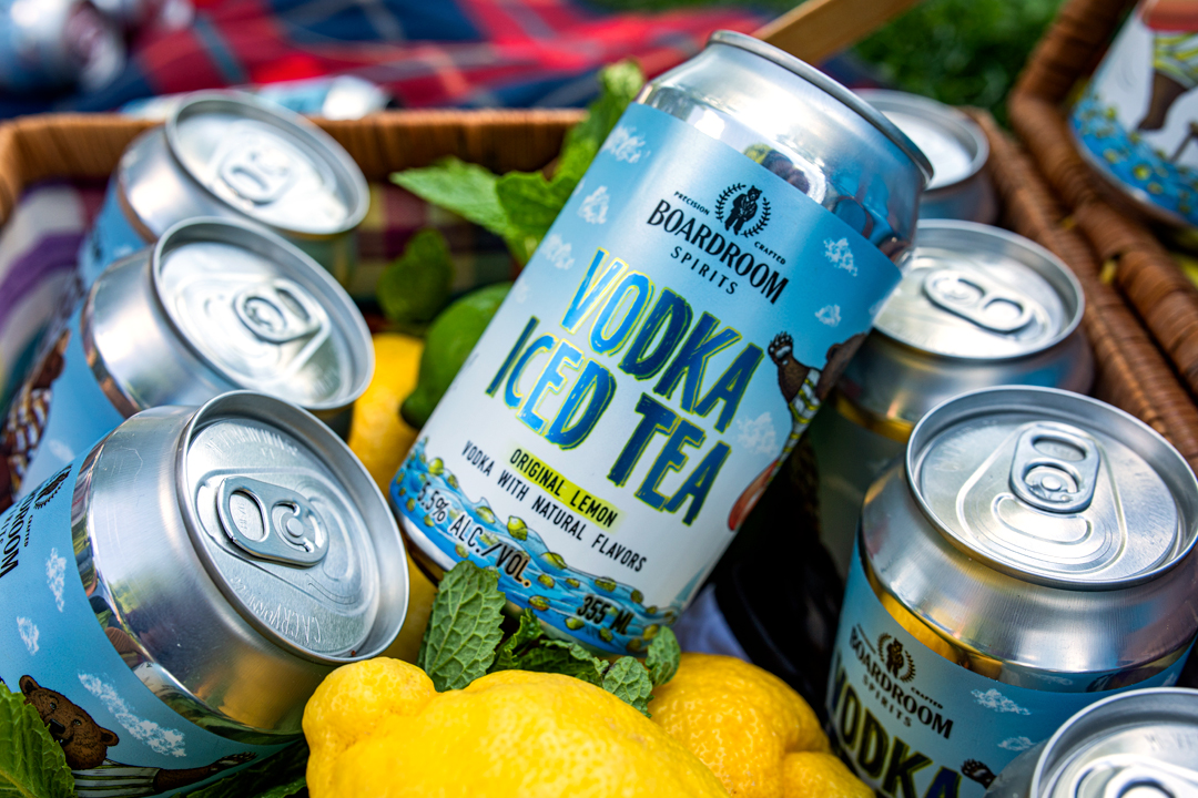 Boardroom Vodka Iced Tea in Cans