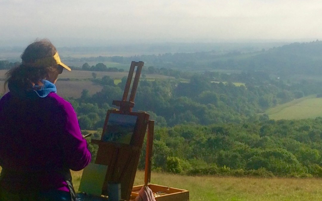 Plein air painting in Sussex