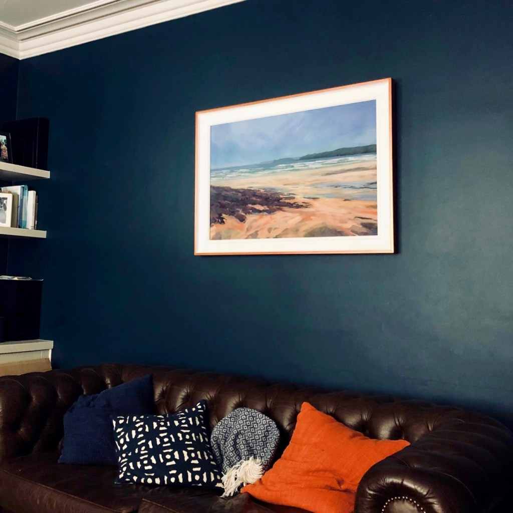 Commissioned painting by Sarah Jane Brown installed in its new home