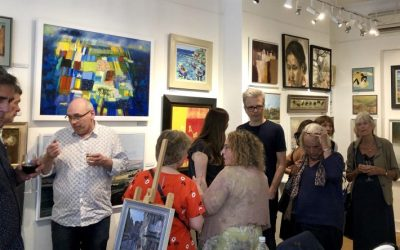 Russell Gallery Private View with Kelvin Okafor