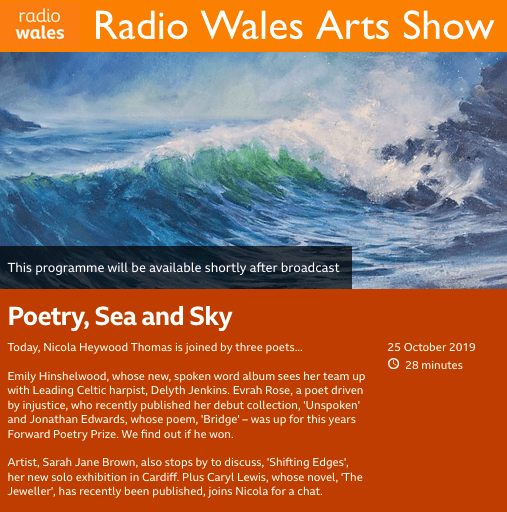 Interview on BBC Radio Wales Arts Show