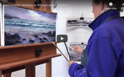 Time-lapse beach painting – 'Remote Corner'