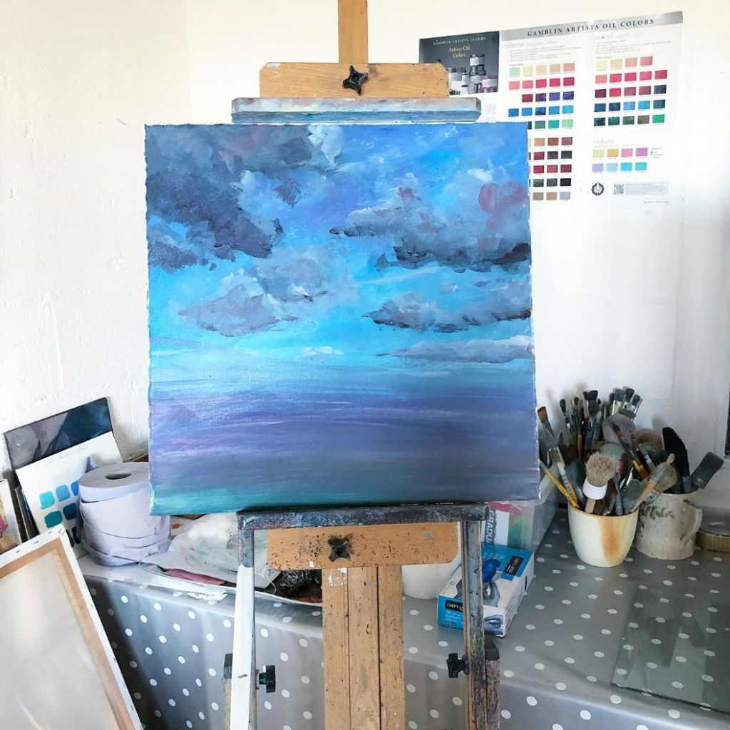 Painting in progress: Precious time