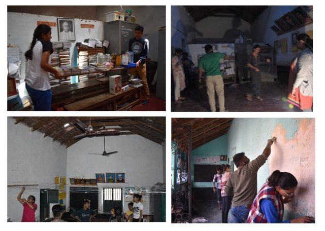 Repair, cleaning, painting and beautification of a Government Primary School, Kengeri