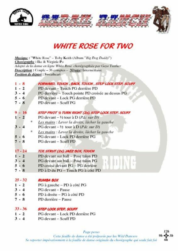 WHITE ROSE FOR 2