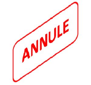 Cours du 3 mai 2019 annulé