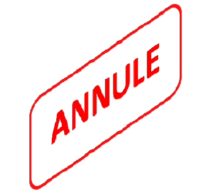 COURS DU MERCREDI ANNULES
