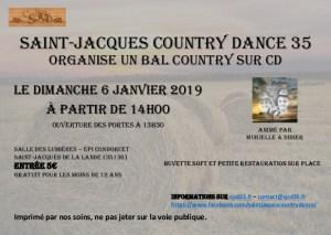 SAINT JACQUES COUNTRY DANCE VOUS SOUHAITE DE BONNES FÊTES DE FIN D'ANNÉE ET VOUS DONNE RDV LE 6 JANVIER 2019…