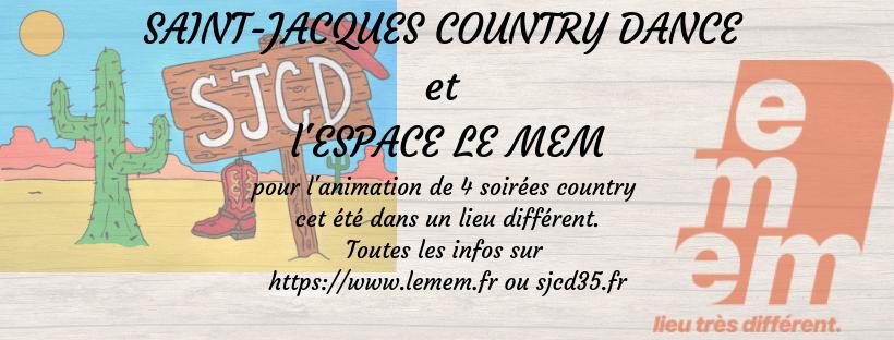 SAINT-JACQUES COUNTRY DANCE et l'ESPACE LE MEM s'associent pour animer 4 soirées country cet été…