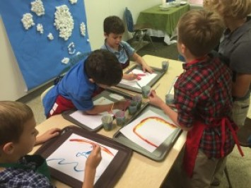 Our 1st-3rd Grade Formation Class enjoys engaging with God through art.