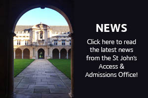 News: Click here to read the latest news from the St John's Access & Admissions Office!