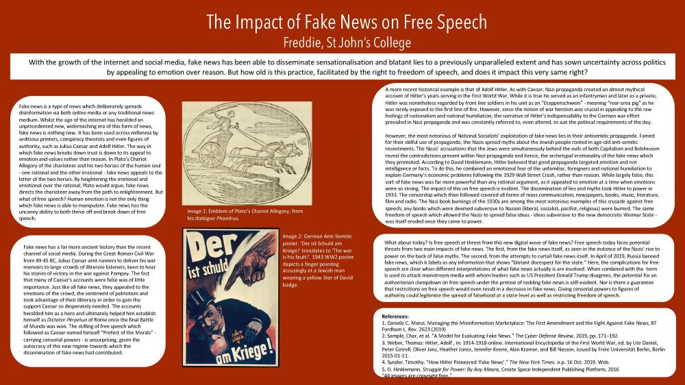 The Impact of Fake News on Free Speech (Academic Poster Project by Freddie)