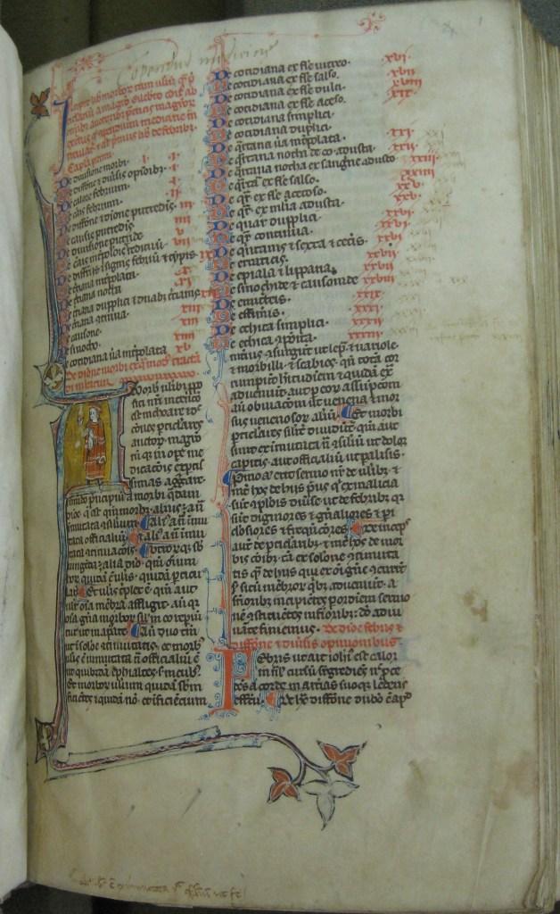14th c. Gilbert the Englishman, Compendium medicine (MS 108)