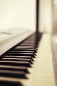 Photo of a piano keyboard